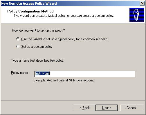 1320 Policy Config Method